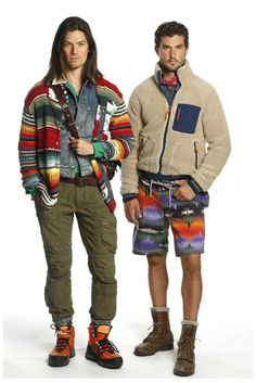 Americana Mode–Native American design motifs and classic prep styles collide for the spring/summer 2014 collection of Polo Ralph Lauren. While vibrant colors and prints dress shorts and knits, relaxed chinos are paired with smart blazers. Knit ties, madras separates and relaxed silhouettes contribute to the ease of Ralph Lauren's preppy aesthetic, combining charm and classics...[ReadMore]