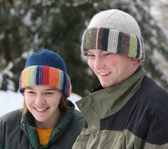 This hat is a great way to use up small amounts of yarn.