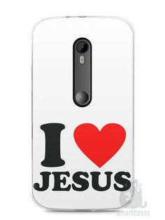 Capa Moto G3 I Love Jesus - SmartCases - Acessórios para celulares e tablets :)