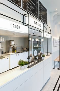 Formroom For Milk Train Bakery Shop Interior, Coffee Shop Interior Design, Retail Interior Design, Commercial Interior Design, Commercial Interiors, Modern Interior Design, Coffee Cafe Interior, Interior Livingroom, Interior Styling