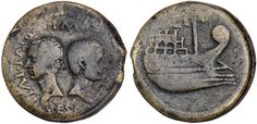 Julius Caesar and Octavian Coin