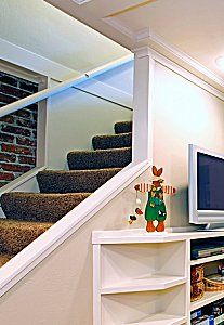 finished basement ideas. Open up my staircase like this ?