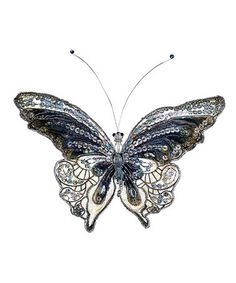 Take a look at this Pewter Butterfly by Floral Furnishings: Home Décor on #zulily today!