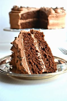 Chocolate Cake with Whipped Mocha Frosting