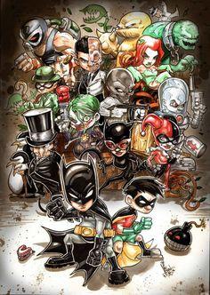 Batman and Robin vs. The Villains