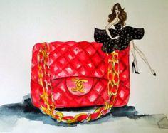 original fashion sketch // 40s 50s par expvintagehome sur Etsy