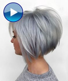 Short Hair With Layers, Short Hair Cuts For Women, Short Hair Styles, Short Bob Cuts, Layered Bob Short, Layered Graduated Bob, Women Hair Styles, Grey Hair Styles, Unique Hair Cuts