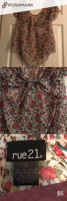 Cute summer top! Cute summer top size small a cami or bandeau should be worn with! Perfect condition never worn Rue21 Tops Blouses