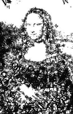 Monalisa [Lam Tai] (Gioconda / Mona Lisa)-in letters asil anom...mona lisa