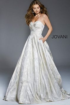 0b18957a6 A-Line Dresses #AlineDress #eveninggown #formal #Jovani #fitandflare Ivory  Evening