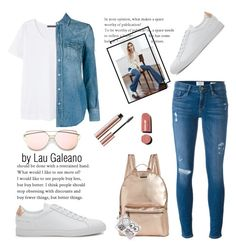 """love gold rose!!!!"" by lauvgaleano on Polyvore featuring Frame Denim, Violeta by Mango, Yves Saint Laurent, Common Projects, Rampage, Chelsea28 and Chanel"