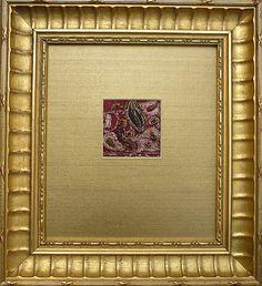 Elegant, Artfully Framed Sari Fabric Remnant from The Furniture Divas