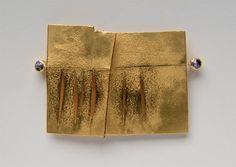 Brosche - Gold 900, Saphire - 48 x 63 x 4 mm - Inv. Nr. 354/2006/RS