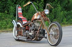 An old school chopper named Capt. Qatar built by After Hours Bikes.   This bike will be on its way to Qatar shortly.