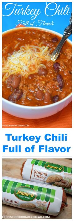 Turkey Chili --- I made this with tomato soup instead of tomato sauce ... could use a little more spice, but cayenne is an easy fix for that.  Overall I'll def make it again --- Leigh Ann Ground Turkey Chili, Turkey Chilli, Ground Turkey Recipes, Chili Recipes, Crockpot Recipes, Soup Recipes, Easy Recipes, Slow Cooker Recipes, Cooking Recipes
