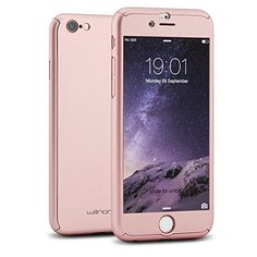 6c6bb046e97 Willnorn Norn One Full Body Protection Hard Slim Case with Tempered Glass  Screen Protector for Apple iPhone 6 - Rose Gold by Willnorn