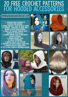 Get 20 Free Crochet Patterns for Hooded Accessories this week! Click To Tweet…