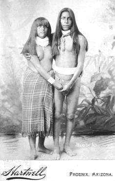 Cute couple of the Apache Tribe, Arizona