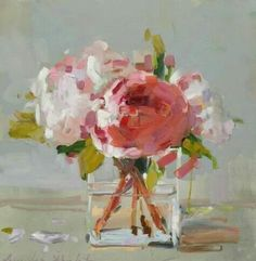 "Laura Lacambra Shubert: ""Peonies in Glass"" (so pretty)"