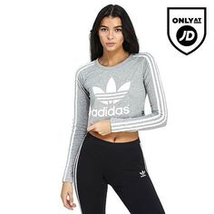 Adidas Originals Paris cropped Long Sleeve Top Active