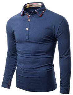 Polo Shirts, Dress Shirts, Gentleman's Wardrobe, Style Men, My Style, Classic Style, Jersey Shirt, T Shirt, Striped Polo Shirt