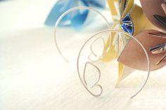 Butterfly hoop earrings in sterling silver  Sweet by MisoPretty, $18.00