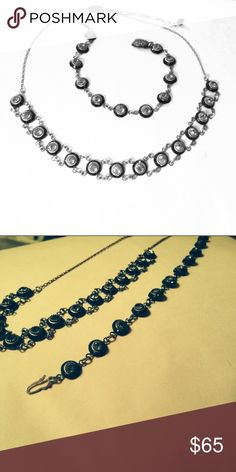 Necklace and Bracelet set Necklace and bracelet vintage jewelry. Swarovski crystals. Liz Palacios Jewelry Necklaces