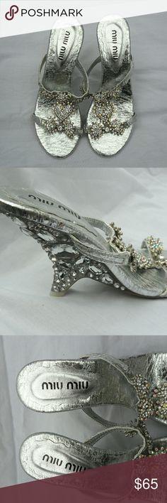 Miu Miu Embellished rhinestone Heels Fancy Miu Miu rhinestone embellished Wedding/Party shoes New Never worn , size 6 Miu Miu Shoes