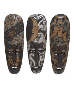 Take a look at this African Mask Wall Art Set by UMA Enterprises on #zulily today!