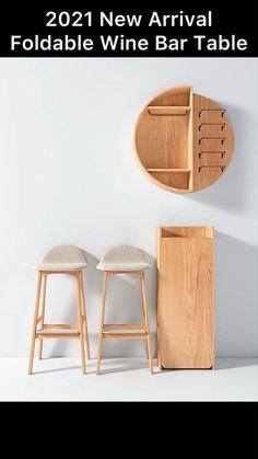 Diy Furniture Easy, Smart Furniture, Space Saving Furniture, Unique Furniture, Furniture Design, Small House Design, Home Room Design, Home Interior Design, Round Shelf