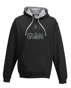 nice IT'S GRIM UP NORTH- Cult Fantasy TV Series Inspired Men's hoodie / hooded top From FatCuckoo