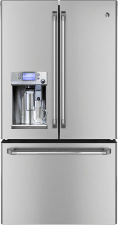 A new GE refrigerator with a built-in Keurig K-Cup brewer. The future is here!