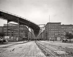 "1905. ""The Elevated, Eighth Avenue and 110th Street,"" New York City."