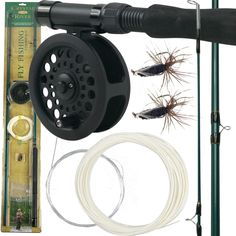 Trademark Tools Gone Fishing Crystal River Fly Fishing Combo Kit, Silver