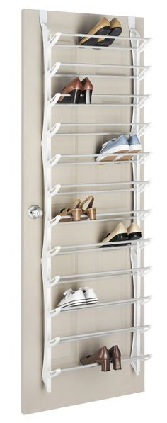 Amazon.com - Whitmor 6486-1746-WHT Over-The-Door Shoe Rack, White, 36-Pair - Closet Storage And Organization System Shoe Racks