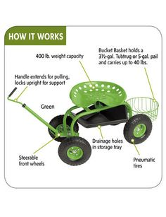 Beau Garden Tractor Scoot | Exclusively From Gardeneru0027s Supply