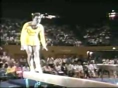 1988 Paul Hunt gymnastics comedy beam routine. So freaking funny!