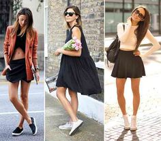 awesome 10 Ways of Wearing Running Shoes and Sneakers With Dresses