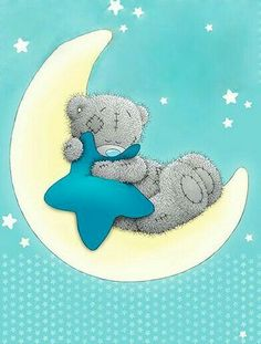 Tatty Teddy Wish on a star Tatty Teddy, Baby Print, Scrapbooking Image, Lapin Art, Teddy Bear Pictures, Blue Nose Friends, Love Bear, Cute Teddy Bears, Baby Cards