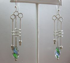 Sterling Silver and Artisan Glass Dangle by TheSilverGardenHHI, $120.00