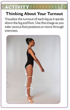 Think about your turnout as a spiral that starts at the hips and ends beyond your feet.