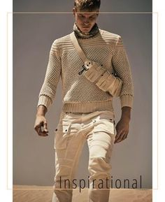Trend Forescasting SS' 19 book Safari Chic, Stylish Boys, Belstaff, Obi Wan, Sexy Men, Men Sweater, Spring 2016, Men's Clothing, Opal