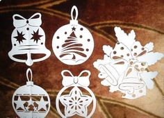 Ablakkép Kirigami, Christmas Ornament Crafts, Christmas Decorations, Diy And Crafts, Paper Crafts, Wood Burning Art, Valentine Day Cards, Holidays And Events, Paper Cutting