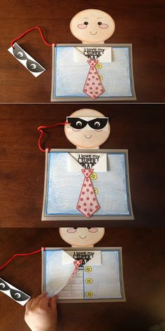 """It's a bird! It's a plane! No its super dad! The """"Super Dad"""" Father's Day craftivity will hold a special place in Dad's heart this year! This craft was designed with all age levels and learning styles in mind and is great for advanced writers AND beginning writers with the tracing inserts for pre-writers."""