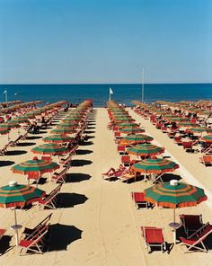Tuscany, Italy: Umbrellas line the Tuscan beach town of Viareggio, Italy, one of the World's Sexiest Beaches. The Beach, Beach Town, Cinque Terre, The Places Youll Go, Places To See, Viareggio Italy, Ansel Adams, Emilia Romagna, Toscana Italia