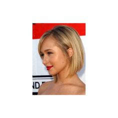Hayden Panettiere Inverted Blonde Bob With Side Bangs Hairstyles 2013 found on Polyvore