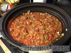 Copy Cat Wendy's Chili Recipe - crockpot slow cooker crock pot - Or you can just buy the Wendy's chili and dump it in the crockpot for a shortcut
