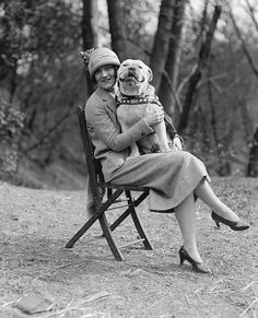 Sergeant Major Jiggs, USMC with Miss Mae Everly, 1925