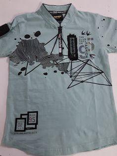 Graphic Artwork (By Raman Dawar): Bombay Samples Polo T Shirt Design, Free T Shirt Design, Boys Shirts, Sports Shirts, Kids Wear Boys, T Shirt Painting, Graphic Artwork, Camisa Polo, Latest T Shirt