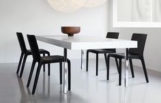 Gio is made entirely from one material. It envelops the chair homogeneously from backrest to legs.